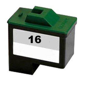 1- Pack No. 16 Black Remanufactured Ink for Lexmark X75 X1150 X1185 X1270 X22... (No 14 Compatible Black Ink)