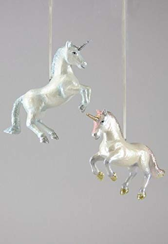 - Cody Foster & Co Prancing Unicorn Pink Resin Hanging Ornament