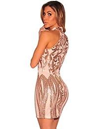 Vestidos Sexys Casuales Cortos Dorados De Fiesta Ropa De Moda Para Mujer 2018 De Noche Elegantes VE0047