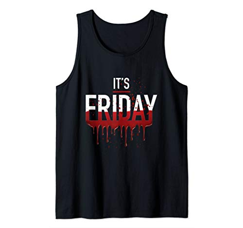 It's Friday Funny Horror Halloween Gifts Costume Idea Tank ()