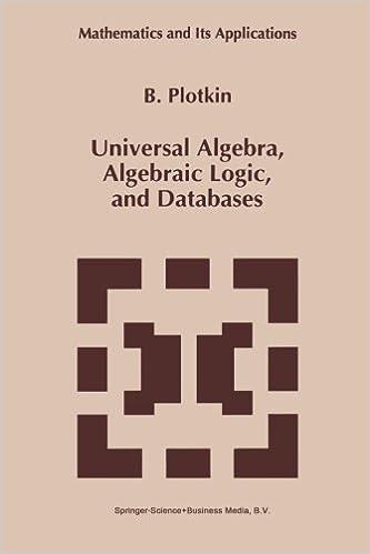 Universal Algebra, Algebraic Logic, and Databases