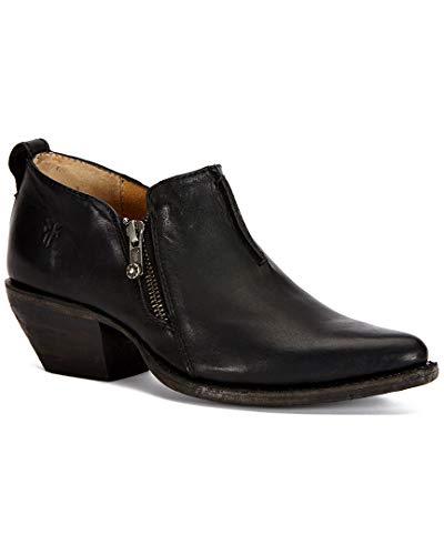 FRYE Women's Sacha Moto Shootie Western Boot, Black, 7.5 M US