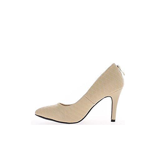 Consejos para las mujeres zapatos beige señaló tacón 9cm