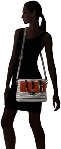Fossil Women's Kinley Leather Satchel Purse Handbag