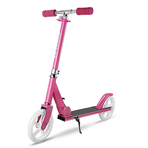 JBHURF Children's Scooter, Student Pedal Scooter, Two-Wheeled Children's Scooter with one-Second Folding Function, Adjustable Height Scooter for Children Over 8 Years Old (Color : Pink) by JBHURF (Image #7)
