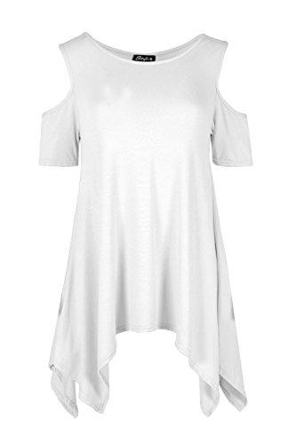 Janisramone - Camiseta sin mangas - Básico - Sin mangas - para mujer blanco