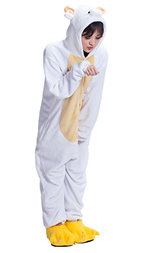 Sheep Kigurumi Cosplay Halloween Romper Soft Cozy Jumpsuit Costume S]()