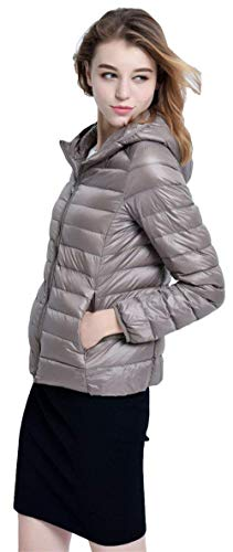 Mantello Qualit Targogo Con Lunga Abbigliamento Leggero Laterali Donna Caldo Di Alta Cerniera Piumino Con Tasche Cappuccio Manica Cappotto Monocromo Invernali Corto Rv1qR