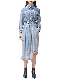 Silk Denim Print Shirtdress