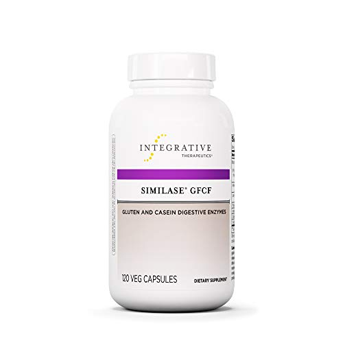 - Integrative Therapeutics - Similase GFCF - Gluten Digestive Enzyme - Supports Breakdown of Gluten and/or Casein/Dairy* - Reduces Occasional Gas and Bloating* - Vegan and Gluten Free - 120 Capsules