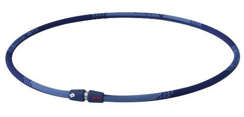 Phiten Titanium Necklace X30 Edge, Navy, 18 Inch