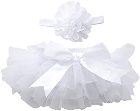 1pc Tutu Skirt and Flower Headband Headwear for Baby Girls Photography Props