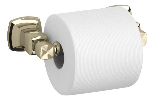 French Gold Toilet Tissue Holder - Kohler K-16265-AF Margaux Horizontal Toilet Tissue Holder, Vibrant French Gold