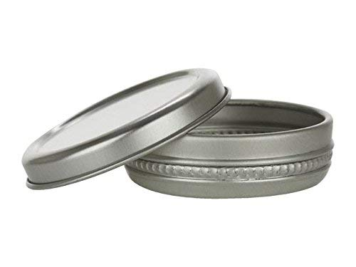 Nakpunar 100 pcs 1/3 oz Aluminum Tin Containers - Round 10 ml - DIY Lip Balms, Solid Perfumes, Geocache, Storage Survival Kit - Slider, Sliding - Kit Favor Tin