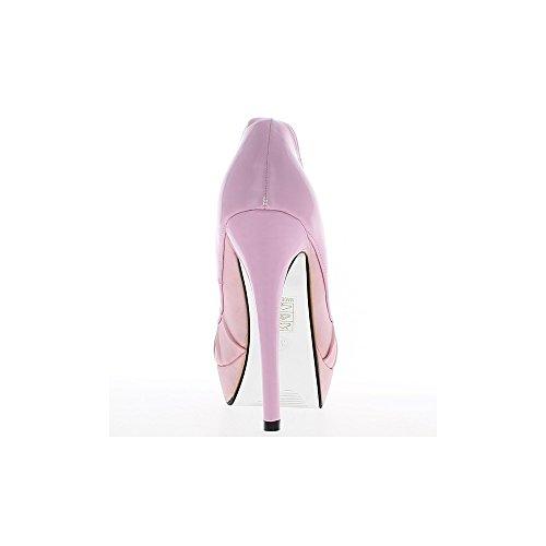 Scarpe donna Rose bi materiale tacchi di scarpa davanti e 13,5 cm