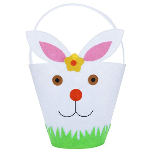 - Iusun Easter Rabbit Candy Bag Creative Portable Holder Present Home Accessory Organizer Pouch Xmas Cartoon for Chocolates Candies Biscuits Home Decor Supplies Gift (White)