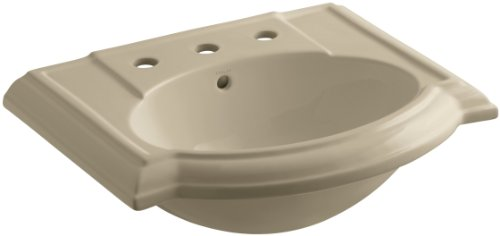 (KOHLER K-2287-8-33 Devonshire Bathroom Sink Basin with 8
