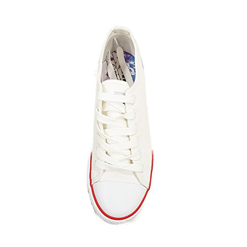 Mtng Fille Bamba - Chaussures De Sport Unisexe, Toile Couleur Blanche, Taille 40