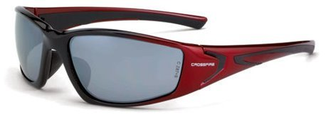12 Pack Crossfire 23233 RPG Safety Glasses Silver Mirror Lens -Shiny Black/Pearl Red Frame by Crossfire