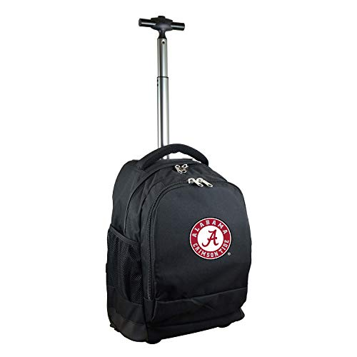 NCAA Alabama Crimson Tide Expedition Wheeled Backpack, 19-inches, Black