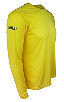 Stand Up Paddle Board Shirt - Mens Long Sleeve Sun Yellow by NALU - paddleboard apparel