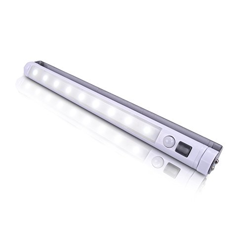 VIBELITE LED Motion Sensor Light Bar 9 LED Light Wall Mount or Surface Mount Closet Under Cabinet Light Step Light Vanity Bedroom Bathroom Hallway Stairway