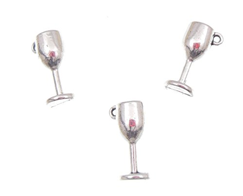 AVBeads Goblet Antique Silver Charms,100 ()