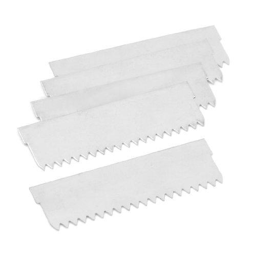 Water & Wood Packaging Sealing Sawtooth Cut Tape Dispenser Cutting Blade 5 Pcs