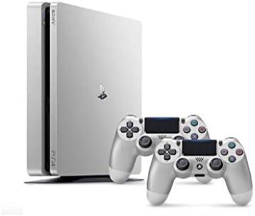 Sony PlayStation 4 Slim - 500GB, 2 Controllers, Silver: Amazon com