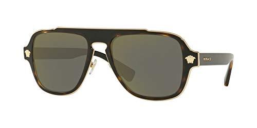 (Versace Mens Sunglasses Tortoise/Gold Metal - Non-Polarized - 56mm)