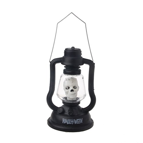 Oween Costumes (NDJK Halloween Witch Skull Pumpkin LED Handheld Lamp Light with Music Horror Costume)