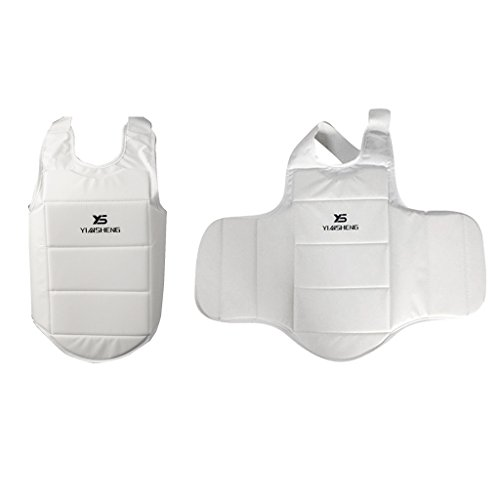 Dovewill 2pc Trainers Boxing Muay Thai MMA Training Chest Shield Rib Guard Body Protector Protective Vest by Dovewill