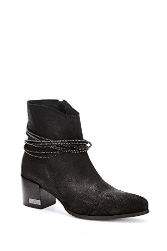 Guess Boots Guess Pia Noir Femme - Botas de algodón Mujer negro