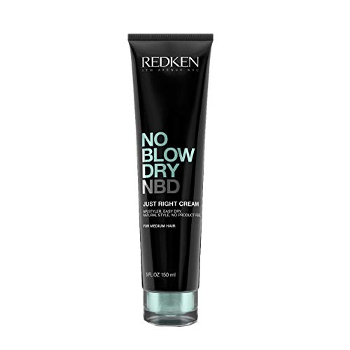 Redken No Blow Dry Just Right Cream Medium Hair for Unisex, 5 Ounce