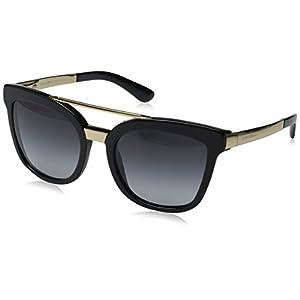 D&G Dolce & Gabbana Women's 0DG4269 Square Sunglasses, Black/Grey, 54 mm