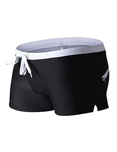 Men`s Square Leg Swim Trunks Summer Beach Large - Swimwear Cut Cheap Mens Square