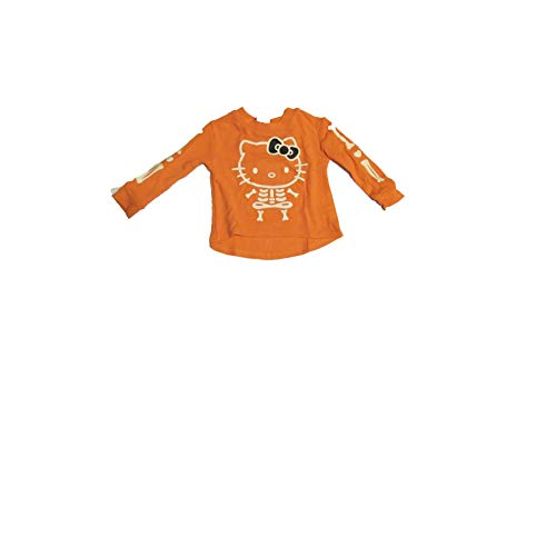 Hello Kitty Halloween Bones Long Sleeve Shirt 12 Months Orange