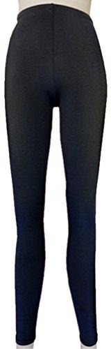 修羅場成長するリーフレットカラーパンツ ロングスパッツタイプ 黒 (Lサイズ)