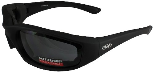 Global Vision Kickback Motorcycle Glasses (Black Frame/Smoke Lens) ()