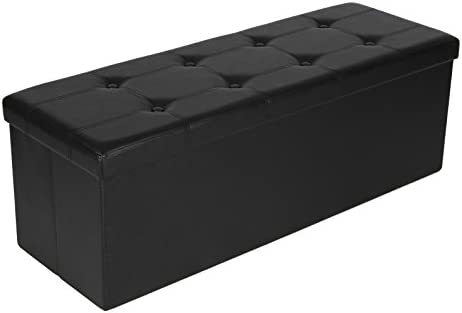 picture of SONGMICS 43 Inches Folding Storage Ottoman Bench, Storage Chest Footrest