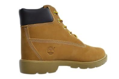 3676ae7a0fe34 Amazon.com: Timberland Big Kids 6 Inch Basic Waterproof Boots Wheat 10960:  Shoes