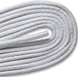 WAXED DRESS ROUND White 30 inch Shoelaces 2 Pair Pack
