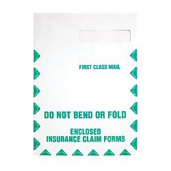Quality Park 54692 Quality Park Redi-Seal HCFA-1508 Window Envelopes/First Class, White, 100/Box Quality Park Right Window