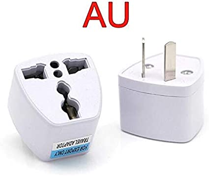 100 x AU UK EU to US AC Power Plug Adaptor Converter Outlet Home Travel Wall