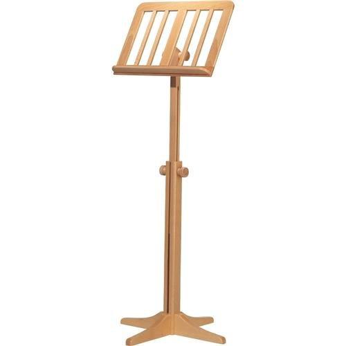 K & M 11616.000.00 116/1 Wooden Music Stand, 28.14-48.22'' Height, Beech