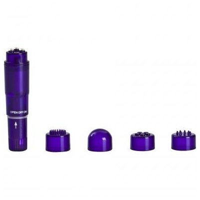 Holiday Gift Set Of Pleasure Kit Purple Rocket and Lubricant And a Mini-Mite Waterproof Massager -Purple
