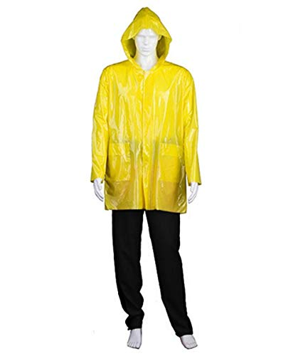 Halloween Party Online Men's IT Georgie Raincoat Costume, Yellow Large -