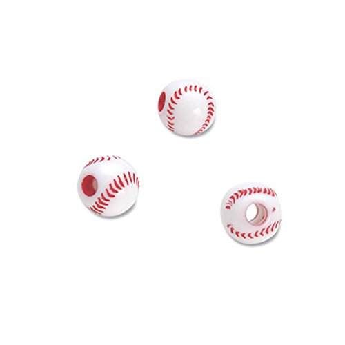 Team Sport Beads - 12mm - 60 per pkg - Baseball