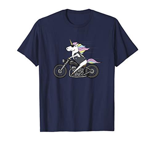 Tough Unicorn Biker Motorcycle Trending Tshirt Tee