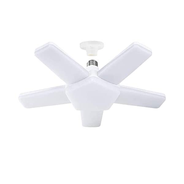 ALOVECO LED Garage Lights, LED Garage Ceiling Lights 60W 6000LM, E26/E27,CRI 80, 6000K Daylight White with 5 Adjustable… 1